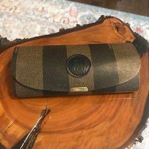 Fendi Sunglass Glasses Case - brown stripes
